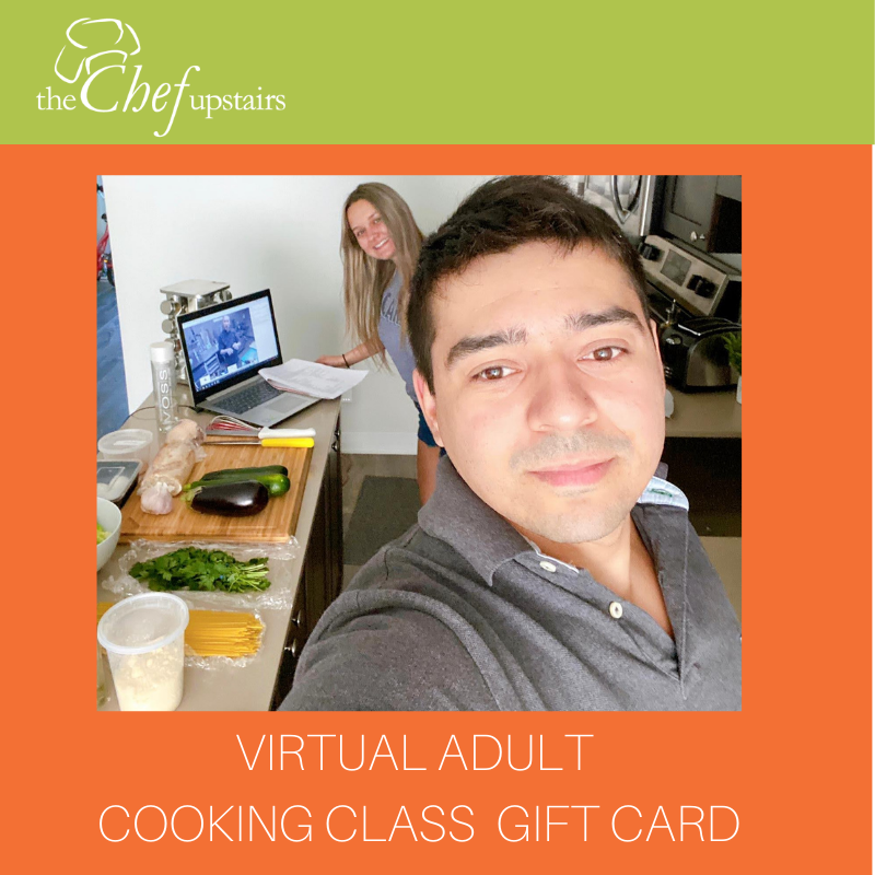 Virtual Adult Cooking Class Gift Card
