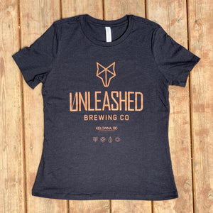 Heather Black t-shirt Unleashed Brewing Co.