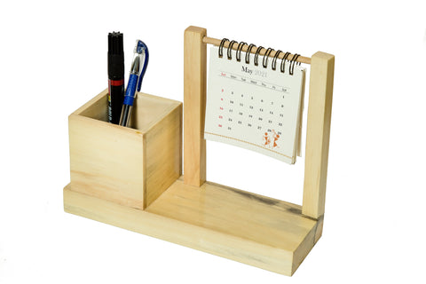 IVEI Warli Utility Desk Calendar with Pen Holder - Desk Organizer