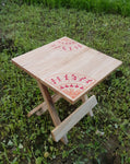 IVEI Warli Wooden Portable Folding Table