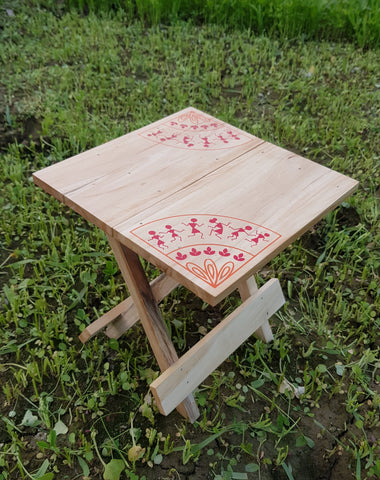IVEI Warli Wooden Portable Folding Table - Medium (12in)