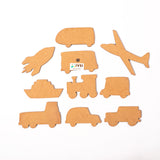 IVEI DIY MDF Vehicle Magnets - Set of 10 - Crafts for kids
