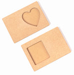 IVEI DIY Rectangle Photo Magnets - Set of 2
