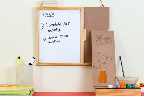 IVEI Chhota Bheem DIY White Board - paint your own board
