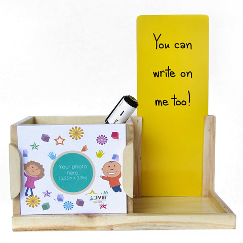 IVEI Desk Organizer with Whiteboard- Kids Return Gifts/ Kids Pen stand/ Photo Desk Organizer