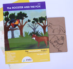 The Rooster and the Fox - Workbooks and 2 DIY Coasters - 4 to 7 Yrs