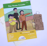 The Three Crooks  - Workbooks and 2 DIY Keychains- 4 to 7 Yrs