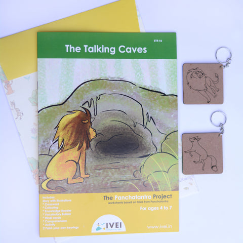 The Talking Cave - Workbooks and 2 DIY KeyChains - 4 to 7 Yrs