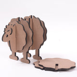 IVEI DIY MDF Sheep Holder with  coasters  - Set of 6
