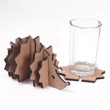 IVEI DIY MDF  Hedgehog Holder with  coasters  - Set of 6