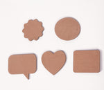 IVEI DIY MDF Shaped Magnets - Set of 20
