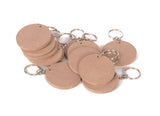 IVEI DIY MDF Key Chains Circle - Set of 20- 2 in X 2 in