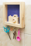 IVEI Wood and Khadi Combination Key Holder