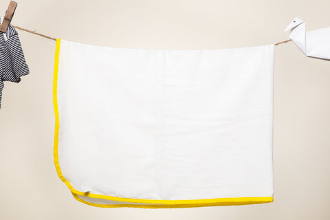 Pure Soft Cotton Dhoti TOWELS for Babies/Kids Set of 2 Towels - Yellow
