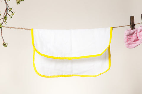 Pure Cotton Soft Dhoti NAPKINS for Babies/Kids - Set of 6 - Yellow