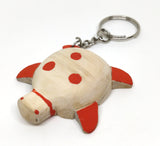 IVEI Wooden Turtle  Keyring -  Set of 3