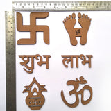 IVEI DIY MDF Cut Outs for Diwali/ Festivals - Set of 6
