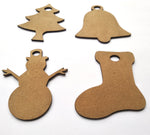 IVEI DIY MDF Cut Out  Christmas Pack - set of 20