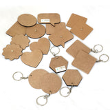 IVEI DIY MDF Keychains and Magnets - Set of 18 ( 6 Keychains & 12 Magnets)