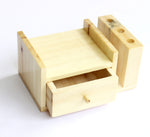 IVEI Wooden Compact Pen Holder with Drawer-Mobile holder - Desk Organizer - Minimal