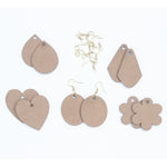 IVEI DIY MDF Earrings Mixed Shapes - Set of 5