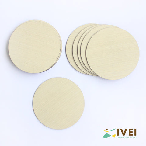 IVEI Wooden finish Round 3.5in Coasters - Set of 12