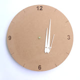 IVEI DIY MDF Clock Round - 11 in