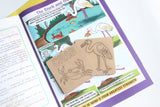 The Stork and the Crab - Workbook and 2 DIY Coasters - 4 to 7 yrs