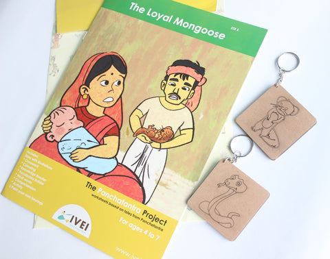 The Loyal Mongoose - Workbook and 2 DIY Keychains - 4 to 7 yrs