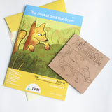 The Jackal and the drum - Workbook and a DIY Puzzle - 4 to 7 yrs