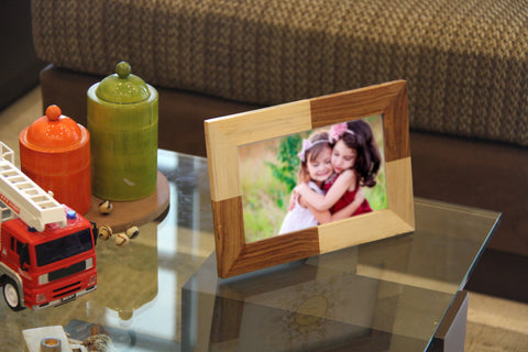 IVEI Wood Patchwork Photo Frames (5in X 8in)