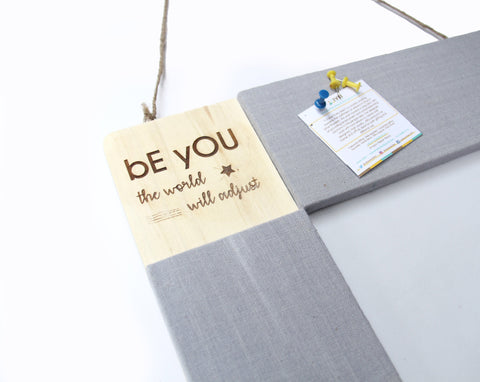 IVEI Pin Board and Whiteboard Combination - with a Inspirational Quote