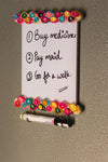 IVEI Wooden Fridge Magnet with Whiteboard and Hooks - Paper Quilling