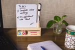 IVEI Wooden Desk Calendar with  White Board