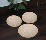 IVEI MDF DIY Rangoli plates- Set of 3, with Pre drawn design