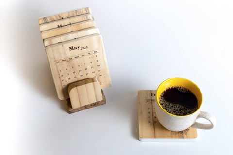 IVEI Calendar Coasters with Stand