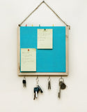 IVEI Wooden Pin Board with Key Hooks