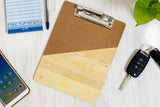IVEI A5 Wooden Clip Pad with Memo Pad