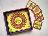 The Sun and Symbols Tray and Coaster set by Chahat