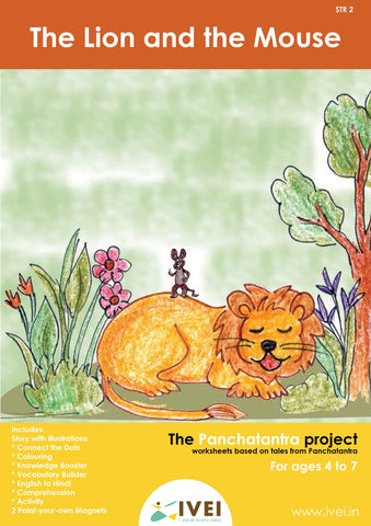 The Lion and the Mouse  - Workbook and 2 DIY Magnets - 4 to 7 yrs