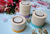 IVEI Handpainted Round Tea lights - set of 3