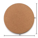 IVEI DIY Circle Coasters (4in X 4in) set of 12