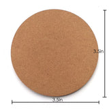 IVEI DIY MDF Circle Coasters (3.5in X 3.5in)- set of 12
