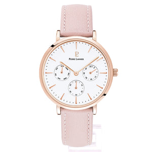 Pierre Lannier Symphony Rose Gold White/Pink Leather 36mm 002G905