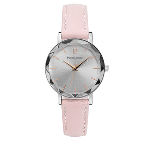 Pierre Lannier Multiples Silver Silver/Pink Leather 009M625