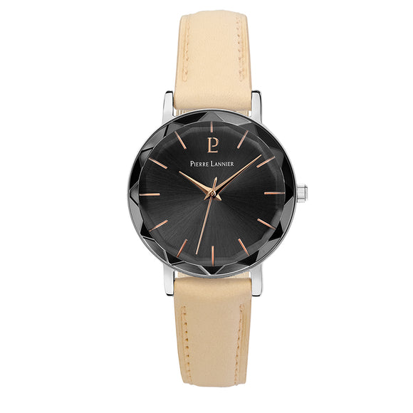 Pierre Lannier Multiples Silver Anthracite/Beige Leather 009M684