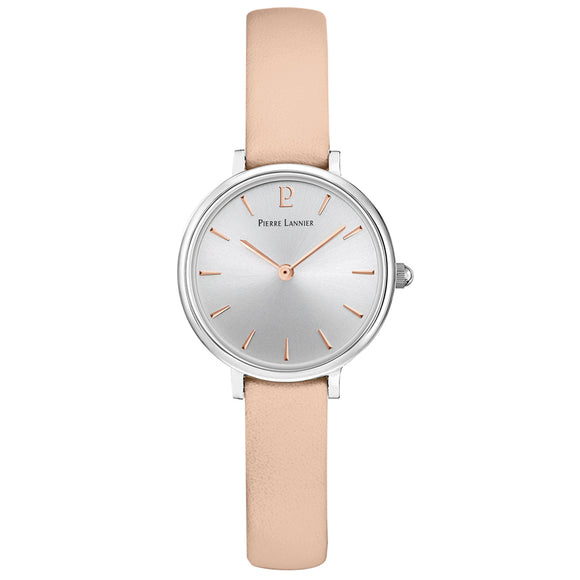 Pierre Lannier Nova Silver/Pink Leather 013N625