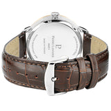 Pierre Lannier Allure Men's Gold Silver/Brown Croc Leather 242C124