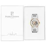 Pierre Lannier Automatic Skeleton Womens Gold White/Silver Mesh 308F608