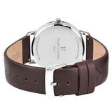 Pierre Lannier Cityline Silver Blue/Brown Leather 202J164